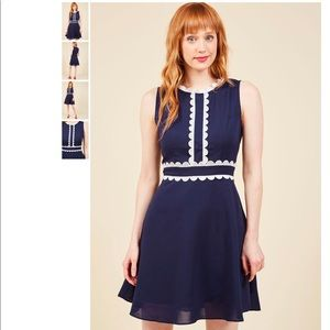 Language Lab Lovely A-Line Dress in 1X